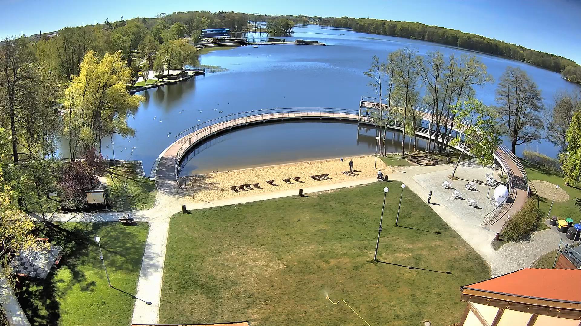 Widok z zamku na jezioro